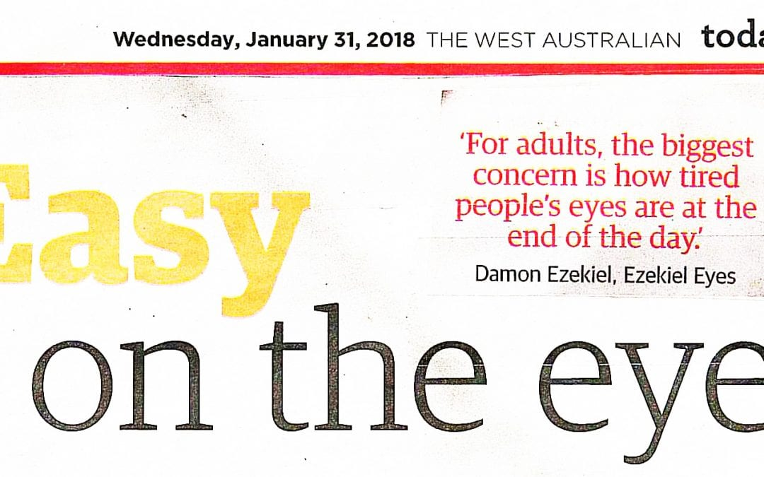 Ezekiel Eyes in The West Health Magazine 2018