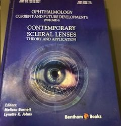 """New Publication, """"Contemporary Scleral Lenses"""""""